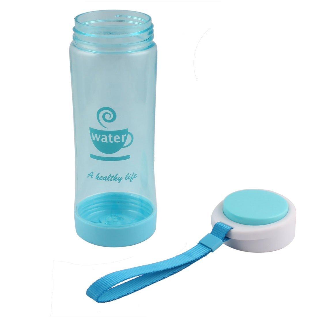 Amazon.com : eDealMax plástico Inicio Leche té Tamiz Deporte Beber Botella de agua la Taza de 500 ml Cian : Sports & Outdoors