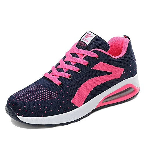 ZR629lanmeihong40 EnllerviiD Women Mesh Air Max Sports Running Shoes Fashion Walking Sneakers Rose 7.5 B(M) US sDs2w
