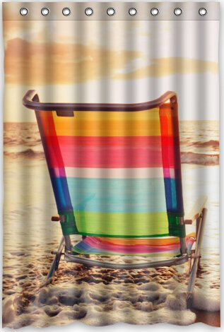 Image Unavailable Not Available For Color Funny Design Beach Chair Shower Curtain