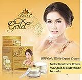 BMB Gold white expert cream Glutathione Skin Bright Review and Comparison
