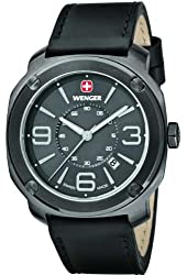 Wenger Escort Black-Tone Dial Stainless Steel Quartz Men's Watch 01.1051.108