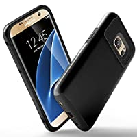 Galaxy S7 Case,[Honeycomb] ARMOR Series Impact Resistant Rugge Durable Shockproof Heavy Duty Protection Dual Layer Case Cover for Galaxy S7 - Black