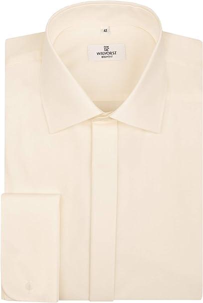 Wilvorst - Camisa para smoking, cuello de tiburón, color ...