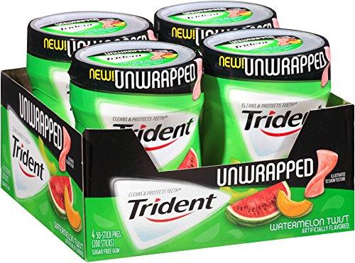 Trident Unwrapped Sugar Free Gum (Watermelon Twist, 50-Piece, 4-Pack)