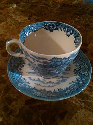English Village by Salem China Co. Olde Staffordshire Finest English Ironstone Cup and Saucer