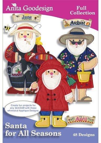 Anita Goodesign Santa for All Seasons Embroidery Designs by Anita - Santa Season Anita