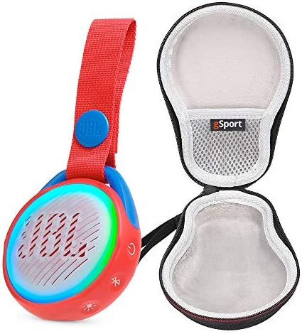 JBL JR POP Portable Bluetooth Speaker for Kids Bundle with gSport Deluxe Hardshell Case Red