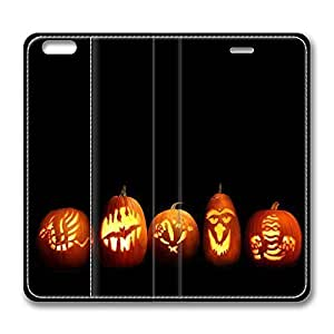 iPhone 6 Leather Case, Personalized Protective Flip Case Cover Pumpkin for New iPhone 6 by supermalls