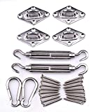 #9: Sun Shade Sail Installation Stainless Steel Heavy Duty Hardware Kit of Rectangle Sails Anti-Rust for Outdoor.