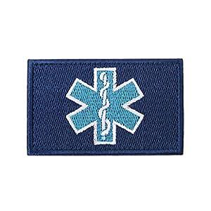 zrshygs Parche de Bordado Técnico de emergencias EMT Insignia de Brazalete de Moral táctica - Azul 8