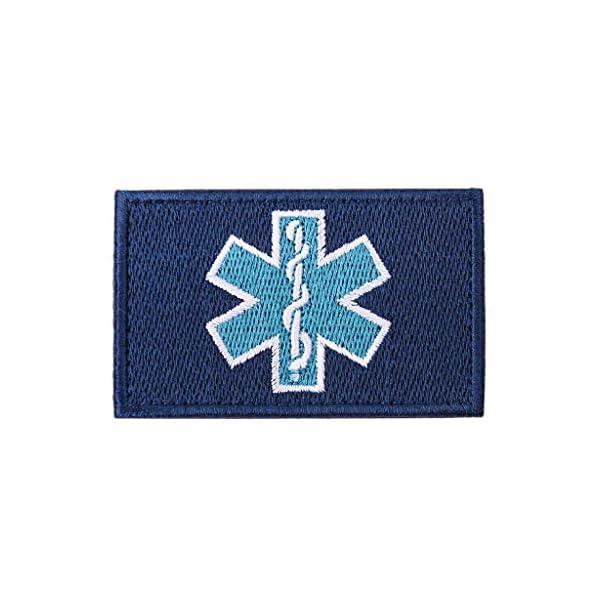 zrshygs Parche de Bordado Técnico de emergencias EMT Insignia de Brazalete de Moral táctica - Azul 2