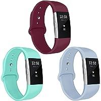 Kmasic Armband compatibel met Charge 2, zachte siliconen sportarmbanden accessoire armband voor Charge 2, vrouwen mannen…