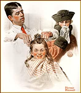 norman rockwell haircut norman rockwell the haircut vintage 3783