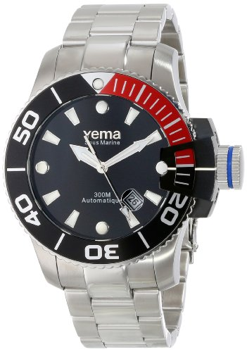 Yema Men's YMHF0301 Sous Marine Analog Display Japanese Automatic Silver Watch