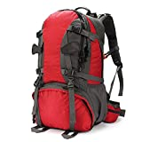 MMPY Large Capacity Waterproof Riding Backpack Outdoor Mountaineering Bag Men And Women Travel Backpack (color : Red, Size : 40L)