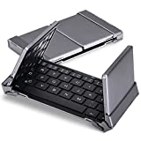 [PCMAG Recommend] MoKo Foldable Wireless Bluetooth Keyboard, Portable Ultra-slim Aluminum Keyboard for iOS / Windows/ Android Tablet PC & Smart Phone iPad Mini 4 / iPad Pro / iPhone 6s Plus, BLACK