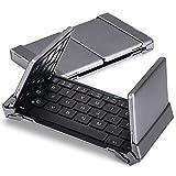 MoKo Universal Ultra-Slim Aluminum Wireless Foldable Bluetooth Keyboard - Black