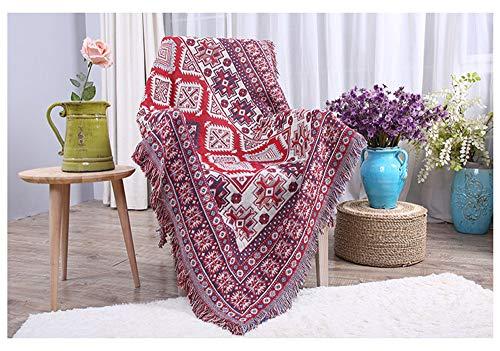 GAOWORD Baumwolldecke Dicke Farbe Atmungsaktiv Büro Freizeit Sofa Decken Warme Winter Gestrickte Hintergrund Decke Dekorative Bettwäsche,90Cm210Cm