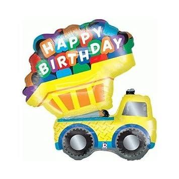 Trucks Diggers Construction Party Happy Birthday Dumper Truck 33quot Balloon