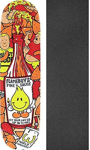 オーストラリア郡デコラティブWorld IndustriesスケートボードFlameboy Fire Sauceスケートボードデッキ – 8