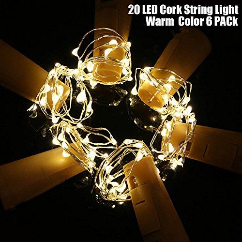 Cork Lights For Wine Bottles,20LED Starry String 2M Lengt...