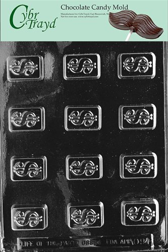 Cybrtrayd Life of the Party AO094 Dollar Sign All Occasions Chocolate Candy  Mold in Sealed Protective Poly Bag Imprinted with Copyrighted Cybrtrayd