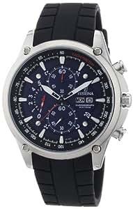 Festina F6816/3 - Reloj de pulsera con cronógrafo para hombre (mecanismo de cuarzo, esfera azul y correa de caucho negro)