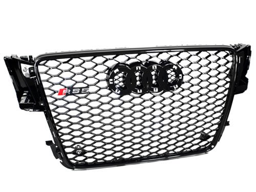 08-12 Audi A5/S5 B8 8T RS5 Style Euro Honeycomb Hex Mesh Grille - Black (2008 2009 2010 2011 - Audi Grille