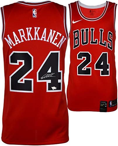 e268119ea71c All NBA Autographed Jerseys. Lauri Markkanen Chicago Bulls Autographed Red Nike  Swingman Jersey - Fanatics Authentic Certified ...