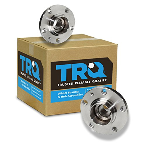 (TRQ Rear Wheel Hub & Bearing Pair Set for VW Jetta Golf Beetle Audi TT 2WD 2x4)