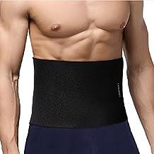 Ohuhu Waist Trimmer Belt, Neoprene Abdominal Trainer Back Support Weight Loss Sweat Enhancer Adjustable Belt, Slimmer Body Shaper Wrap for Men & Women