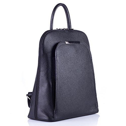 DanDiBo 300062 - Bolso mochila para mujer Negro Negro