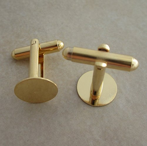 Gold Plated Cuff Links 12mm