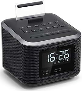 Amazon.com: Homtime Alarm Clock Radio,Wireless Bluetooth