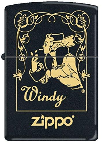 - ZIPPO 218 Black Matte-Windy Window