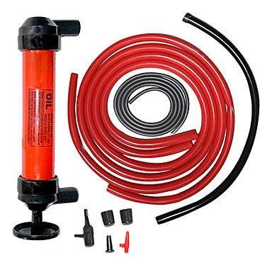 Portable Car Tire Water Oil Fuel Change Transfer Gas Liquid Pipe Siphon Tool Air Pump Kit