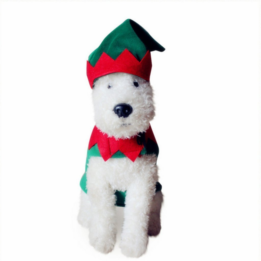Large PetBoBo Dog Cat Pet Christmas Clown Costumes Suit Hoodies Coat Winter Clothing Apparel Puppy Outwear Costume L