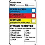 Chemical Hazard Labels Health Hazard Flammability Reactivity Personal Protection