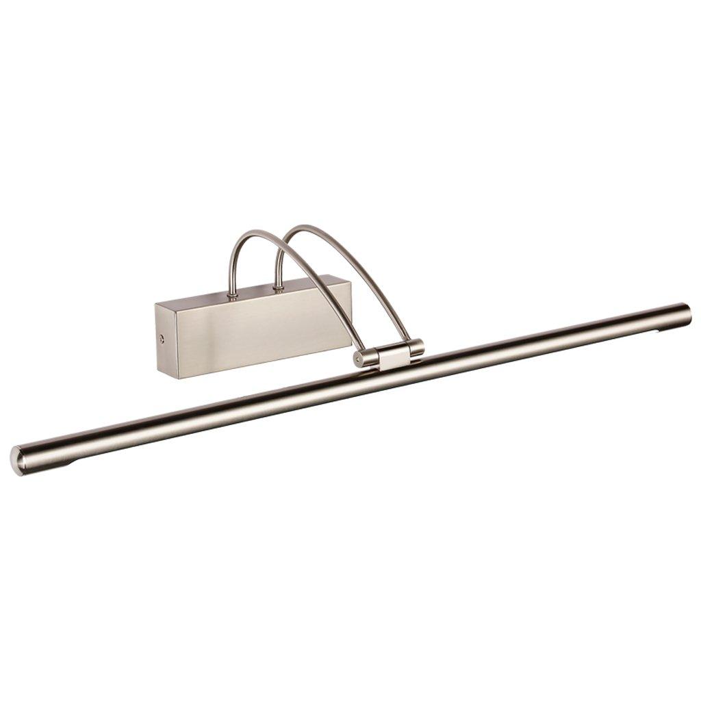 JJJJD Led Kommode Scheinwerfer Make-up-Spiegel Lampe, Galvanik-Hardware + Acryl, Sand Nickel (Farbe   Warmes weißes Licht-65CM 14W)