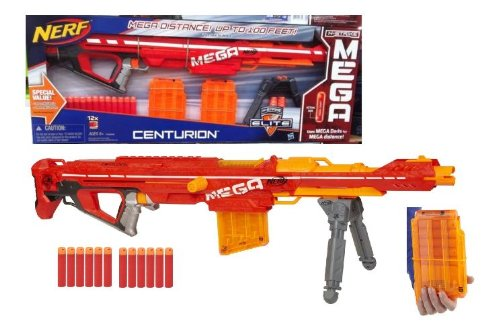 Blasterparts - Nerf N-Strike Elite Mega Series Centurion + Magnus Megapack  - Foam-Guns and Accessories