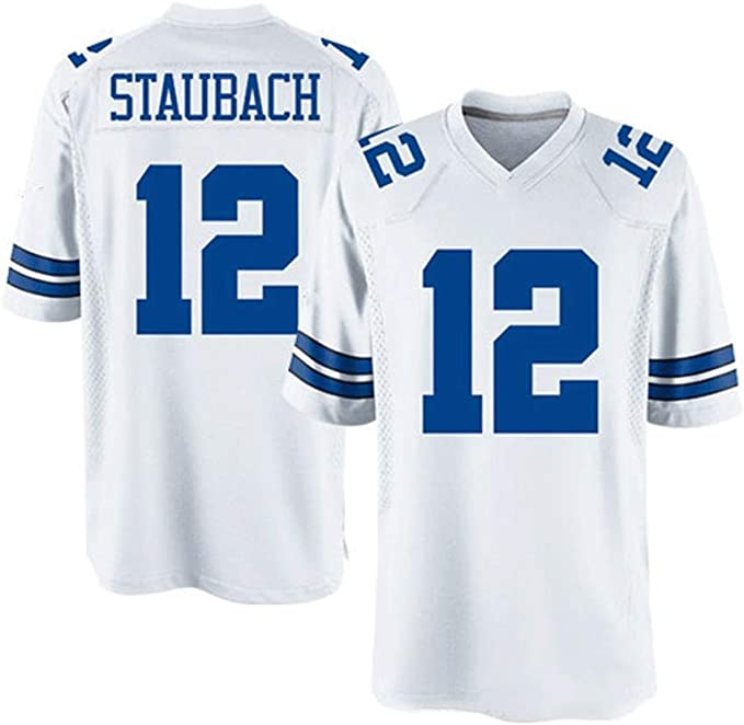 Dallas Cowboys # 12 Staubach Pro Rugby New Jersey Tech ...