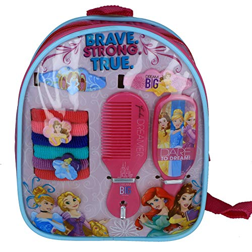 Price comparison product image Girls Hair Accessory Backpack Disney Licensed Princesses Gift Set