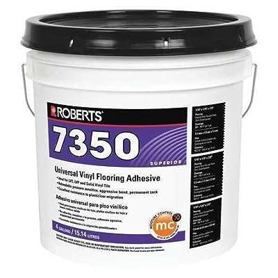 "Roberts 7350-4 Universal Vinyl Flooring Adhesive 4 gal, 11.9 "" x 10.4 "" x 10.3"""