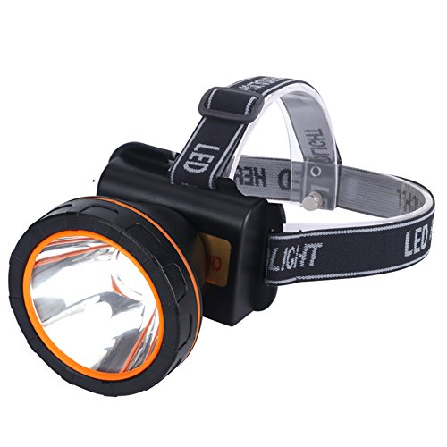 Headlamp Led Flashlight FISHBERG Waterproof Rechargeable Headlight for Camping Hunting Fishing Hiking (6 Left Hand Super Switch)