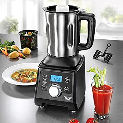 BEEM Germany Gigatherm Mix & Cook 12 in 1 - Robot de cocina, color gris: Amazon.es: Hogar