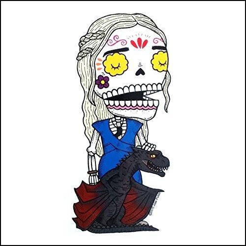 Khaleesi - Daenerys Targaryen - Weather Proof Die Cut Vinyl Day of the Dead Sticker