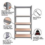 TANGKULA 5-Tier Storage Shelves Space-Saving