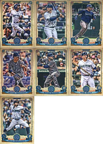 2019 Gypsy Queen Baseball Seattle Mariners Team Set of 7 Cards: Kyle Seager(#13), Dee Gordon(#26), Mitch Haniger(#143), Justus Sheffield(#187), Edwin Encarnacion(#189), Ryon Healy(#222), Felix Hernandez(#242)