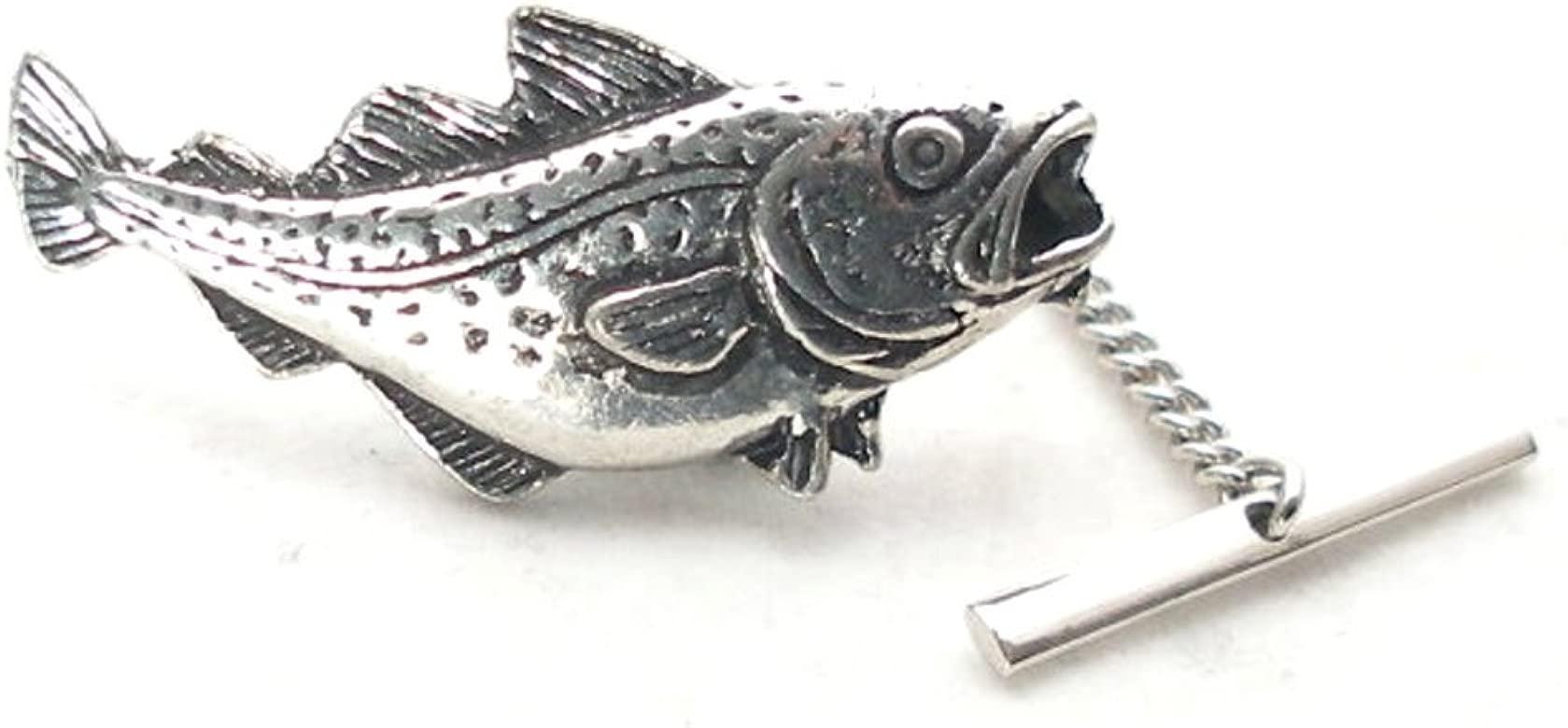 Corbata de peces bacalao pines Fine English Pewter, caja de regalo ...