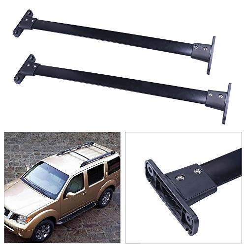 cciyu Black Aluminum Roof Rack Cross Bar Car Top Luggage Carrier Rails Fit for 2005 2006 2007 2008 2009 2010 2011 2012 Nissan Pathfinder Sport Utility 4-Door